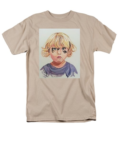 Men's T-Shirt  (Regular Fit) featuring the painting Caught With A Makeup-mess-mila by Kevin F Heuman