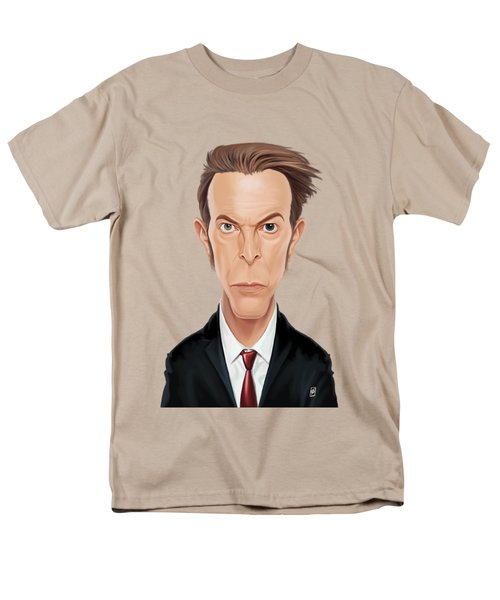 Celebrity Sunday - David Bowie Men's T-Shirt  (Regular Fit) by Rob Snow
