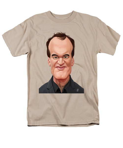 Celebrity Sunday - Quentin Tarantino Men's T-Shirt  (Regular Fit) by Rob Snow