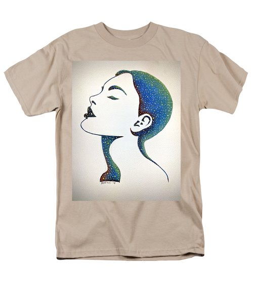 Men's T-Shirt  (Regular Fit) featuring the painting Celeste by Edwin Alverio