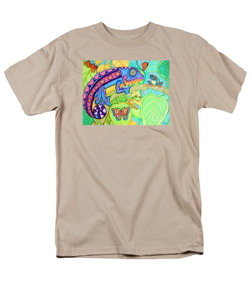 Chamelion And Rainforest Frogs Men's T-Shirt  (Regular Fit) by Nick Gustafson