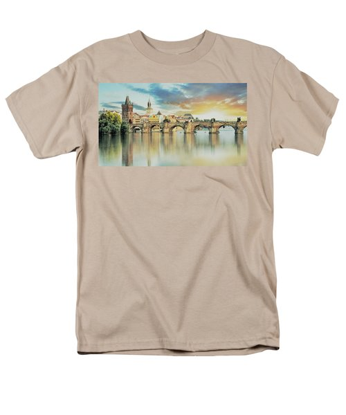 Charles Bridge Men's T-Shirt  (Regular Fit) by Maciek Froncisz