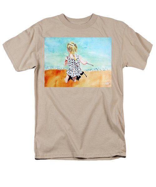 Men's T-Shirt  (Regular Fit) featuring the painting Charlotte By The Lake by Tom Riggs