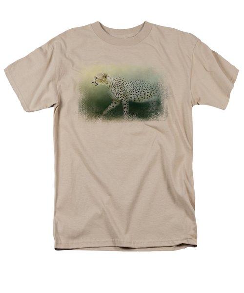 Cheetah On The Prowl Men's T-Shirt  (Regular Fit) by Jai Johnson