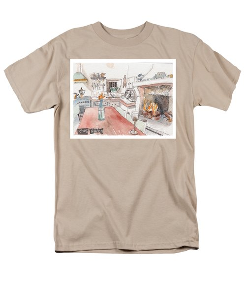Men's T-Shirt  (Regular Fit) featuring the painting Chez Gwen by Tilly Strauss