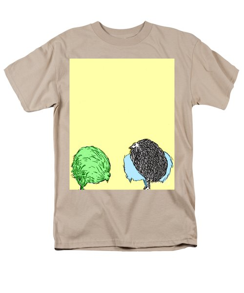 Men's T-Shirt  (Regular Fit) featuring the painting Chickens Three by Jason Tricktop Matthews