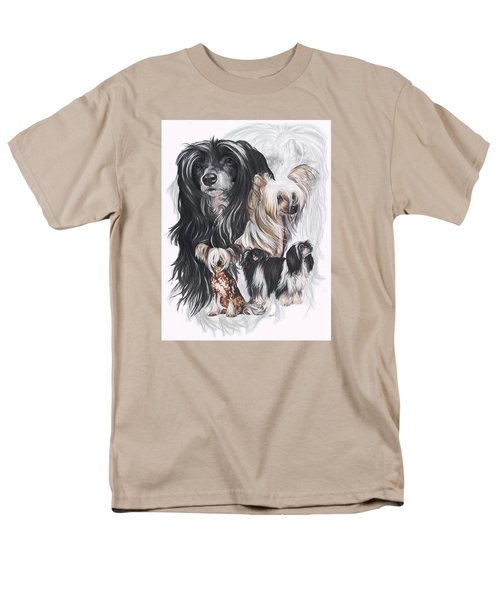 Chinese Crested And Powderpuff W/ghost Men's T-Shirt  (Regular Fit) by Barbara Keith
