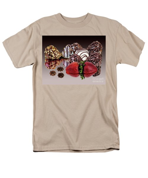 Chocolate And Strawberries Men's T-Shirt  (Regular Fit) by Shirley Mangini