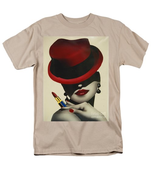 Christion Dior Red Hat Lady Men's T-Shirt  (Regular Fit) by Jacqueline Athmann