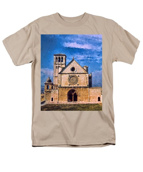 Men's T-Shirt  (Regular Fit) featuring the photograph Church Of Assisi by Trey Foerster