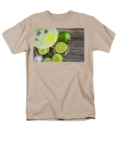 Men's T-Shirt  (Regular Fit) featuring the photograph Classic Lime Margarita by Teri Virbickis