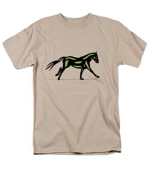 Clementine - Pop Art Horse - Black, Geenery, Hazelnut Men's T-Shirt  (Regular Fit) by Manuel Sueess