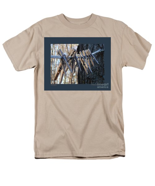 Clothespins Men's T-Shirt  (Regular Fit) by Patricia Overmoyer