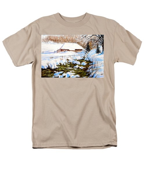 Clubhouse In Winter Men's T-Shirt  (Regular Fit) by Sher Nasser