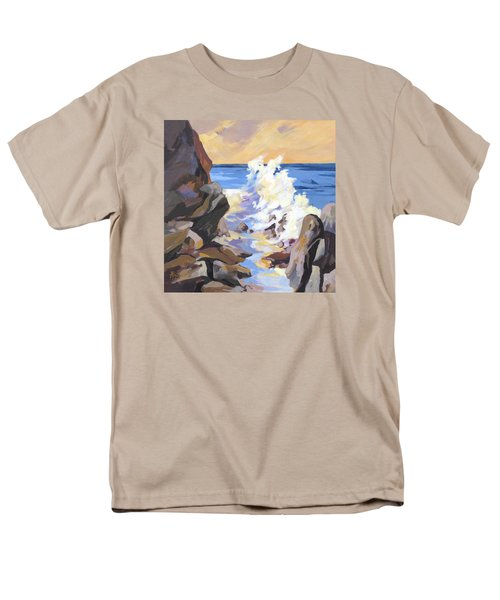 Men's T-Shirt  (Regular Fit) featuring the painting Coastal Edge by Rae Andrews