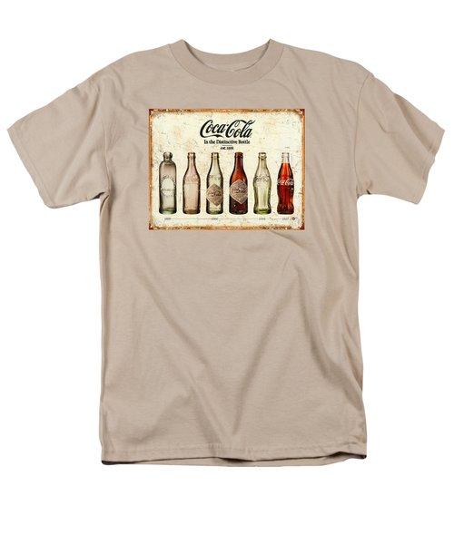 Coca-cola Bottle Evolution Vintage Sign Men's T-Shirt  (Regular Fit) by Tony Rubino
