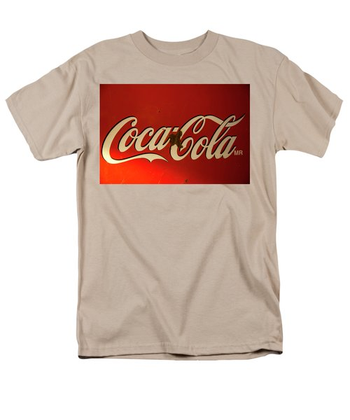Men's T-Shirt  (Regular Fit) featuring the photograph Coca-cola Sign  by Toni Hopper