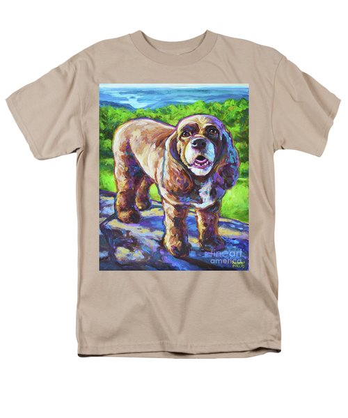 Men's T-Shirt  (Regular Fit) featuring the painting Cocker Spaniel  by Robert Phelps