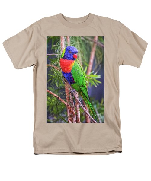 Colorful Parakeet Men's T-Shirt  (Regular Fit) by Stephanie Hayes