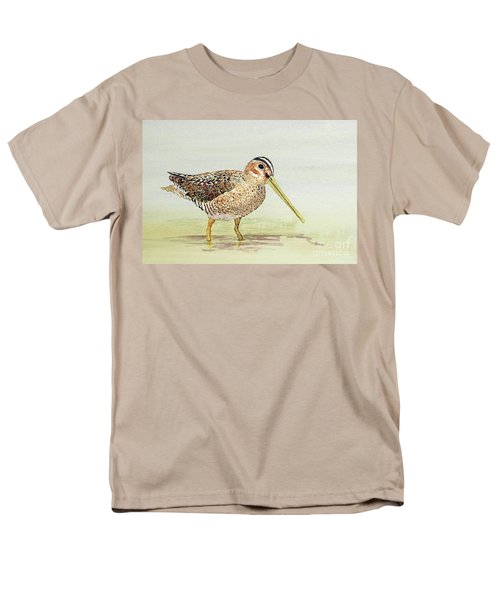 Men's T-Shirt  (Regular Fit) featuring the painting Common Snipe Wading by Thom Glace