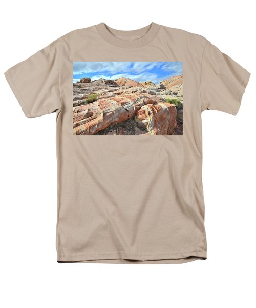 Concentric Color In Valley Of Fire Men's T-Shirt  (Regular Fit) by Ray Mathis