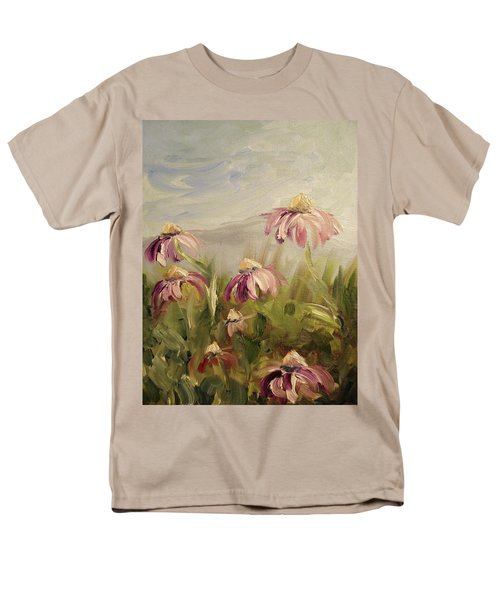 Men's T-Shirt  (Regular Fit) featuring the painting Coneflowers by Donna Tuten