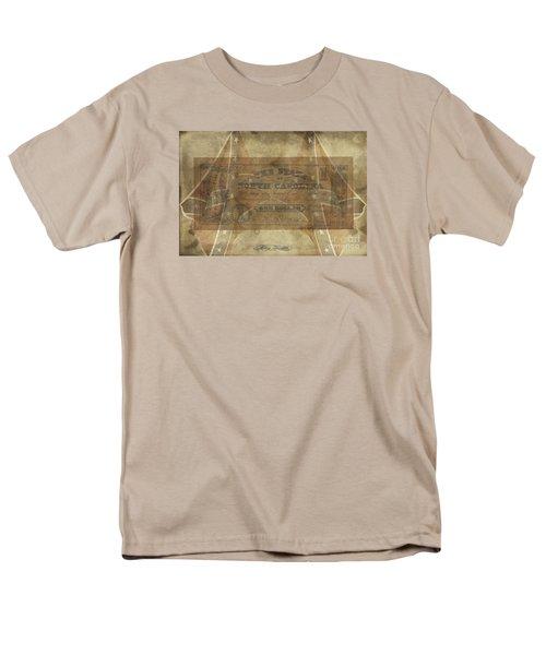 Men's T-Shirt  (Regular Fit) featuring the digital art Confederate $1 North Carolina Note by Melissa Messick