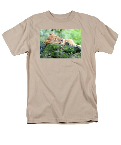 Contented Sleeping Lion Men's T-Shirt  (Regular Fit) by Richard Bryce and Family