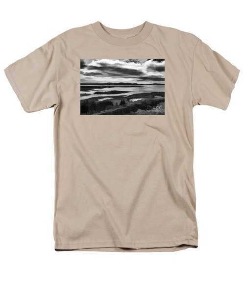Men's T-Shirt  (Regular Fit) featuring the photograph Cool Lakes Iceland by Rick Bragan