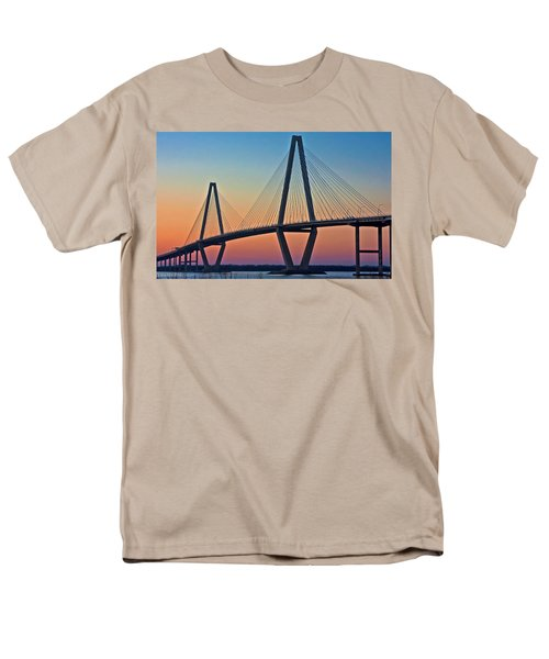 Cooper River Bridge Sunset Men's T-Shirt  (Regular Fit) by Suzanne Stout