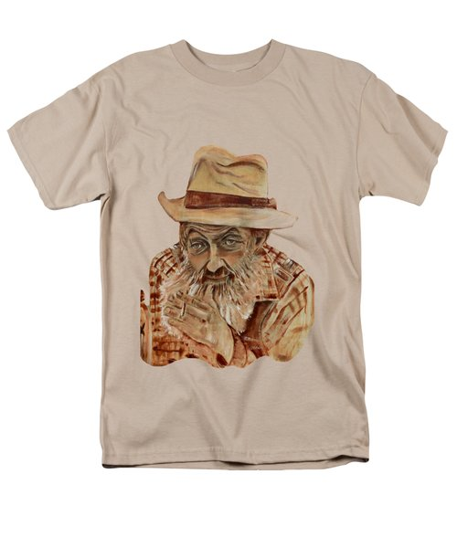 Coppershine Popcorn Bust - T-shirt Transparency Men's T-Shirt  (Regular Fit) by Jan Dappen
