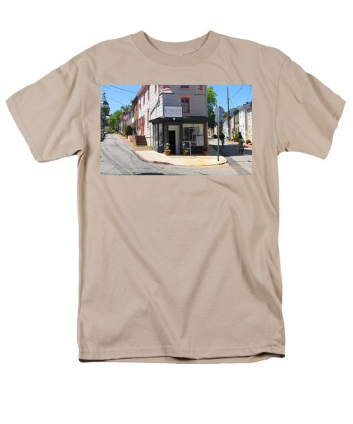 Men's T-Shirt  (Regular Fit) featuring the photograph Cornhill And Fleet by Charles Kraus