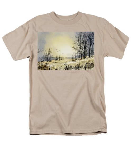 Men's T-Shirt  (Regular Fit) featuring the painting Country Dawn by James Williamson