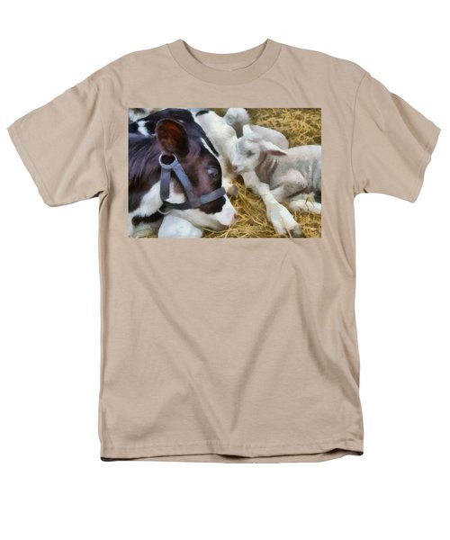 Cow And Lambs Men's T-Shirt  (Regular Fit) by Michelle Calkins