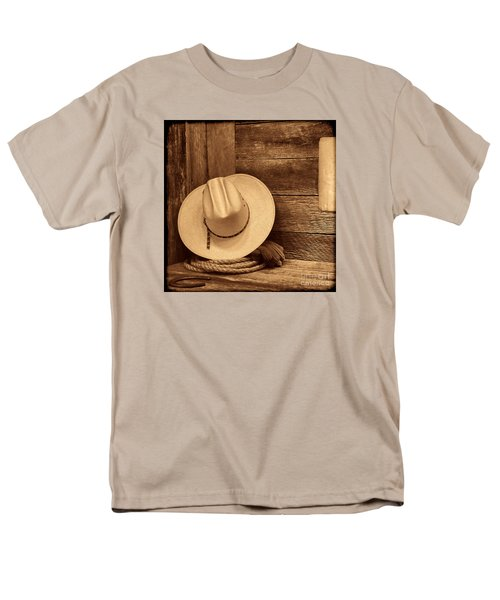 Cowboy Hat In Town Men's T-Shirt  (Regular Fit) by American West Legend By Olivier Le Queinec