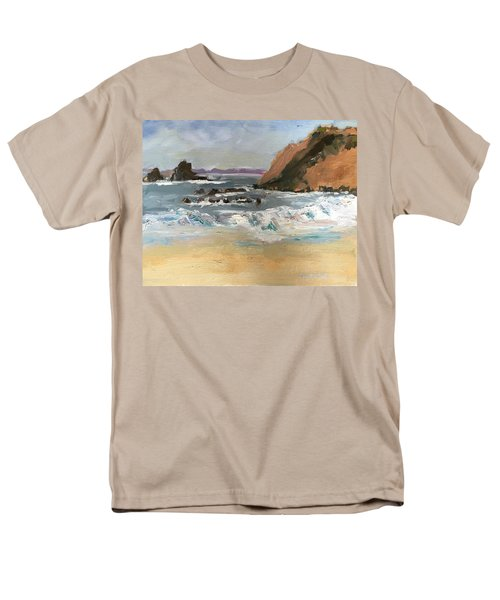 Men's T-Shirt  (Regular Fit) featuring the painting Crescent Beach At Laguna  by MaryAnne Ardito