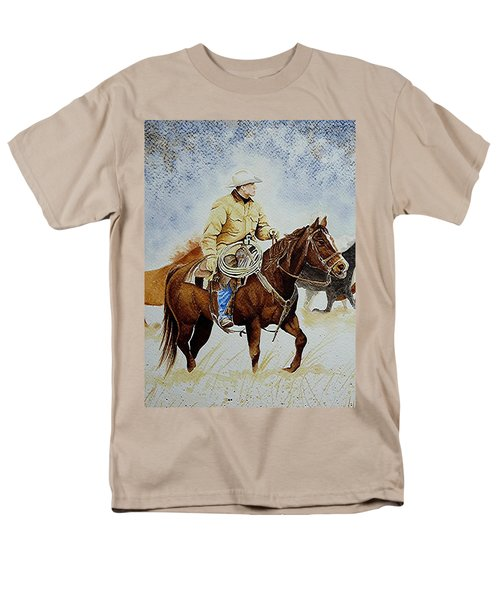 Cropped Ranch Rider Men's T-Shirt  (Regular Fit) by Jimmy Smith