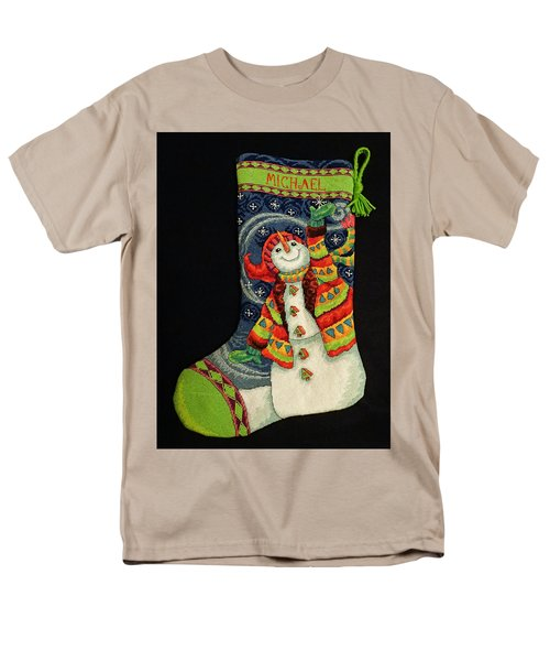 Cross-stitch Stocking Men's T-Shirt  (Regular Fit)