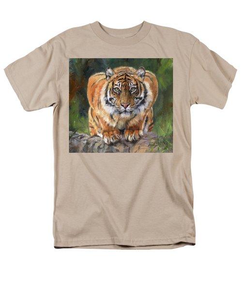 Crouching Tiger Men's T-Shirt  (Regular Fit) by David Stribbling