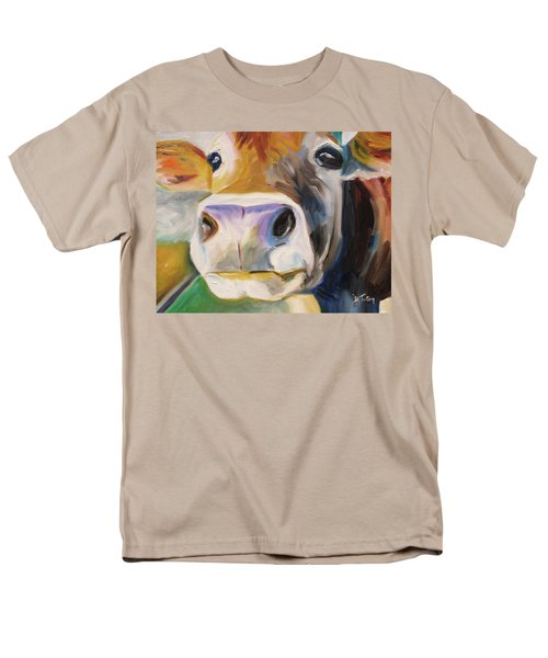 Men's T-Shirt  (Regular Fit) featuring the painting Curious Cow by Donna Tuten