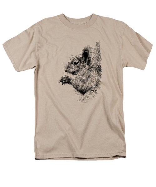 Cute Squirrel Men's T-Shirt  (Regular Fit) by Masha Batkova