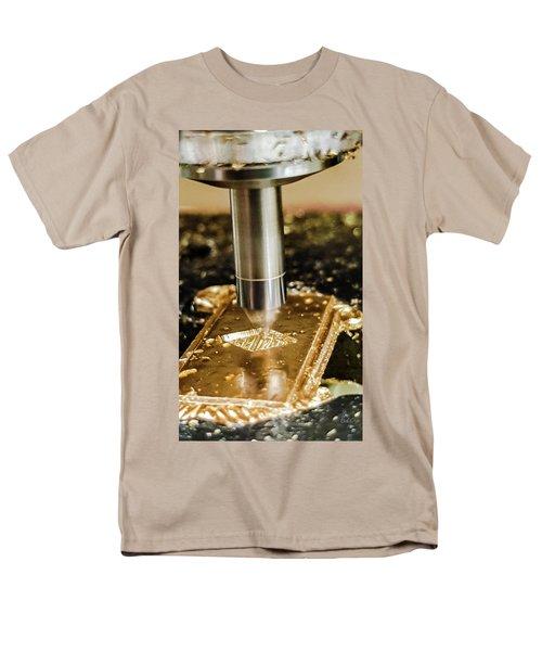 Men's T-Shirt  (Regular Fit) featuring the photograph Cutting Brass by Bruce Carpenter