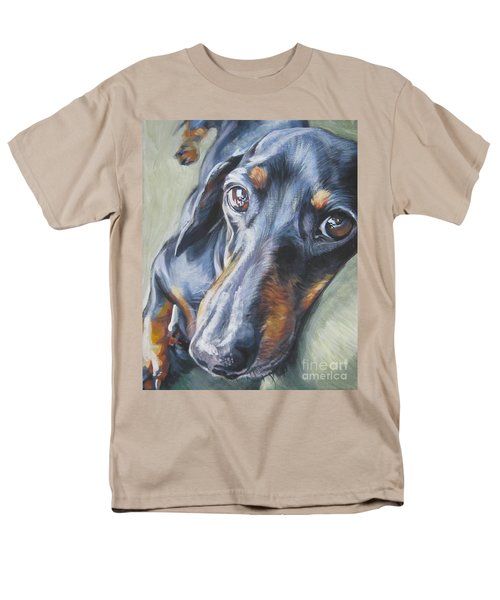 Dachshund Black And Tan Men's T-Shirt  (Regular Fit) by Lee Ann Shepard