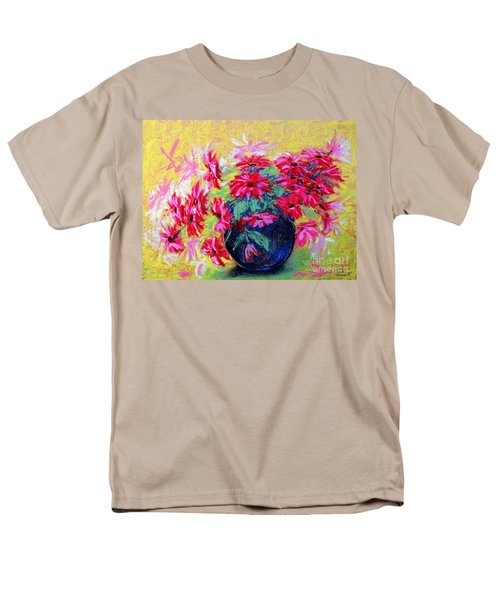 Daisies And Blue Vase Men's T-Shirt  (Regular Fit) by Jasna Dragun