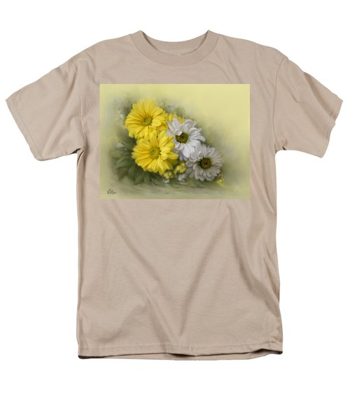 Men's T-Shirt  (Regular Fit) featuring the painting Daisy Spring Bouquet by Bonnie Willis