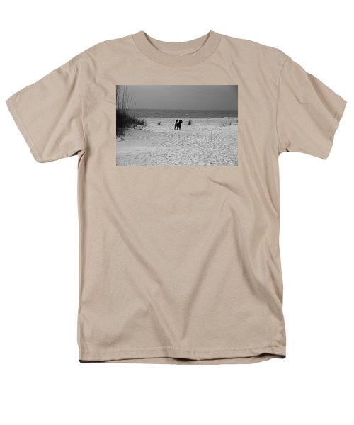 Men's T-Shirt  (Regular Fit) featuring the photograph Dandy On The Beach by Michiale Schneider
