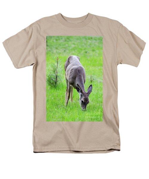 Deer In The Field Men's T-Shirt  (Regular Fit) by Debby Pueschel