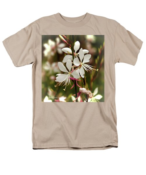 Delicate Gaura Flowers Men's T-Shirt  (Regular Fit) by Joann Copeland-Paul