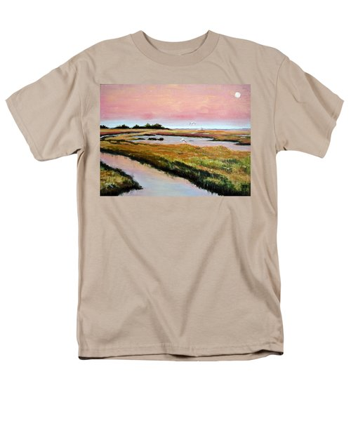 Men's T-Shirt  (Regular Fit) featuring the painting Delta Sunrise by Suzanne McKee