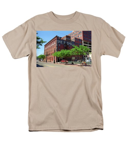 Men's T-Shirt  (Regular Fit) featuring the photograph Denver Downtown Warehouse by Frank Romeo